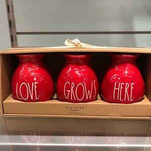 Rae Dunn Love Grows Here Flower Vases